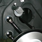 detail of suspension installation