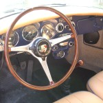 completed dash with custom wooden wheel